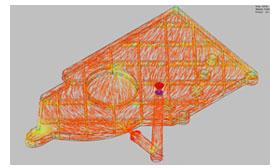 SOLIDWORKS Simulation Rozkład włókien i soczewki