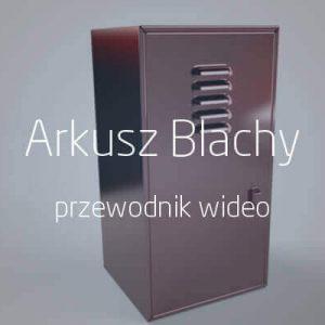 arkusz blachy SOLIDWORKS przewodnik wideo