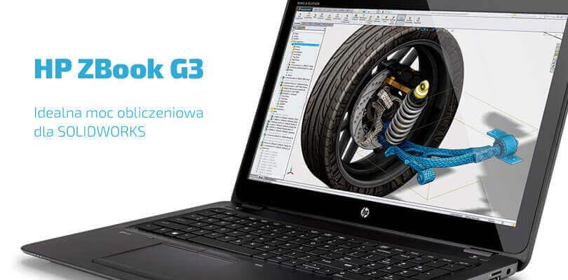 HP ZBook G3 mobilna stacja robocza dla solidworks