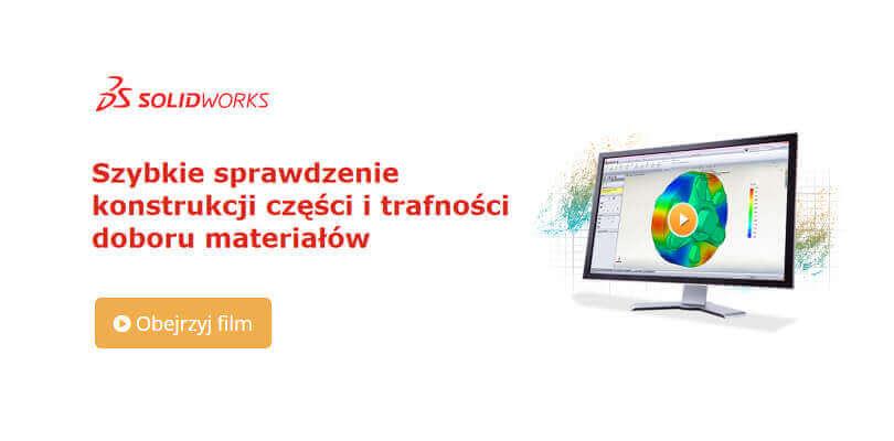 SOLIDWORKS Simulation - szybkie sprawdzenie konstrukcji