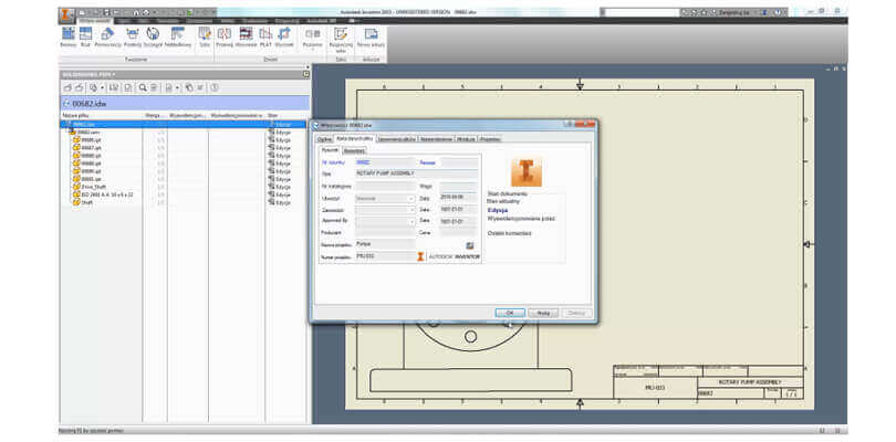 Interfejs Autodesk Inventor oraz SOLIDWORKS PDM