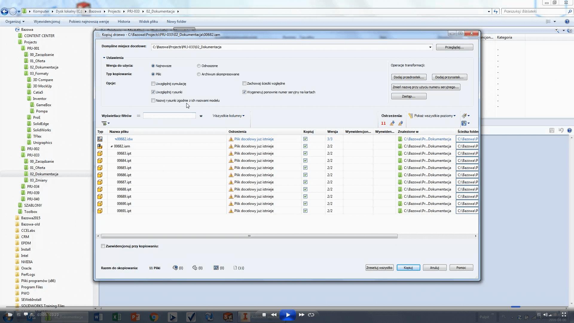 Struktura plików Autodesk Inventor - SOLIDWORKS PDM