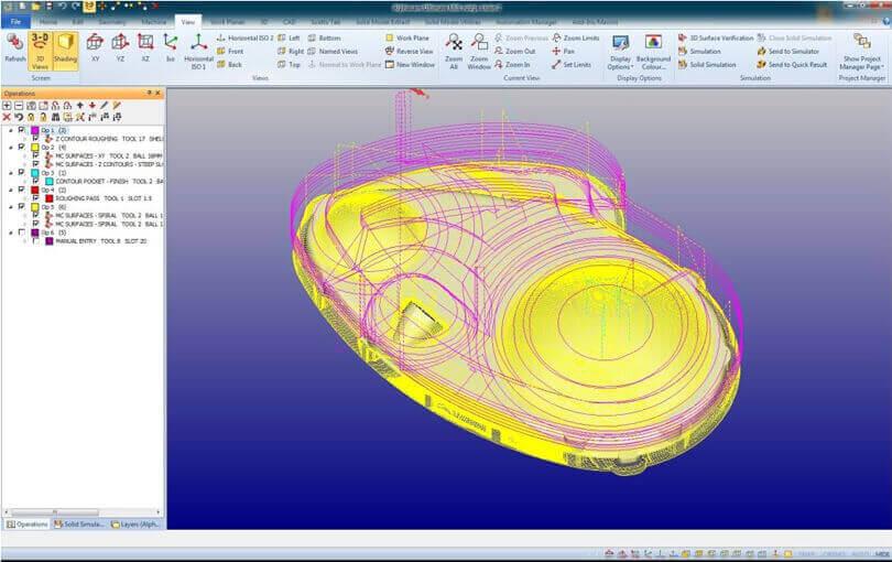 Obróbka w Alphacam - oprogramowanie CAD CAM