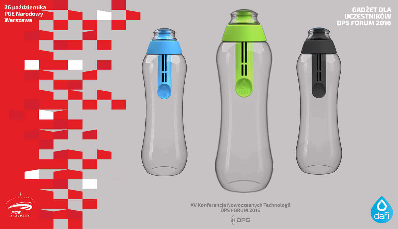 Strefa wystawców DPS Forum Dafi butelka filtrująca