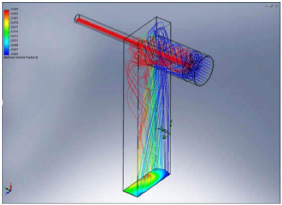 Symulacja przepływu gazu cieczy - SOLIDWORKS Flow Simulation