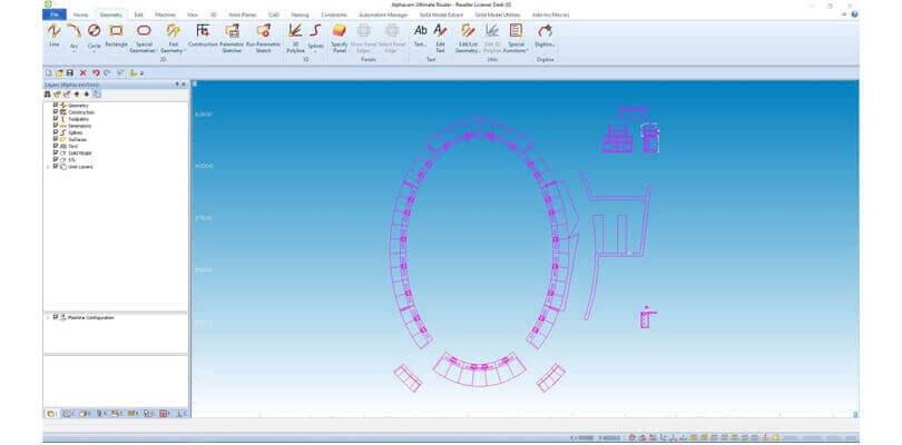 Projektowanie wytwarzanie mebli na wymiar - Alphacam