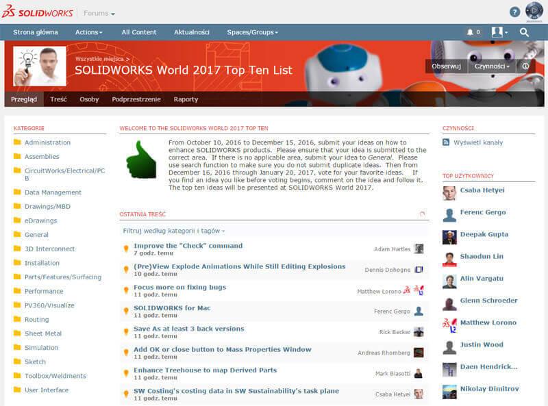 SOLIDWORKS World 2017 Top Ten List
