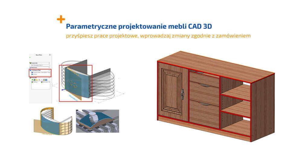 Parametryczne projektowanie mebli cad 3d - SWOOD SOLIDWORKS