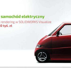 Polski samochód elektryczny - rendering karoserii w SOLIDWORKS Visualize