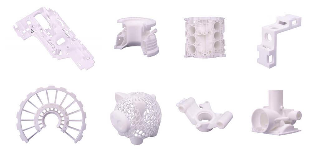 Przykłady wydruków 3D - różne technologie