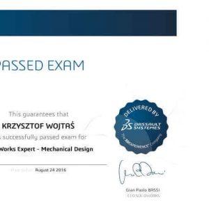 DPS SOftware posiada certyfikat solid works expert CSWE