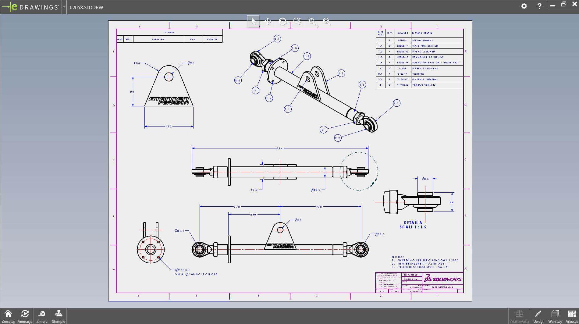 eDrawings - darmowa przeglądarka plików DWG/DXF/STEP 2d/3d CAD