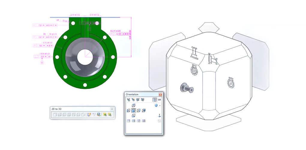 Konwersja 2D DraftSight do 3D SOLIDWORKS - video tutorial
