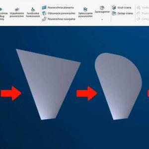 Modelowanie powierzchniowe SOLIDWORKS tutorial