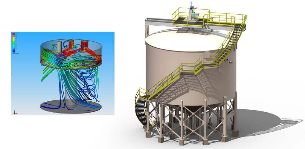 Wykorzystanie symulacji przepływu w projektowaniu zbiorników