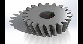 SOLIDWORKS Simulation Obtrysk wkładek