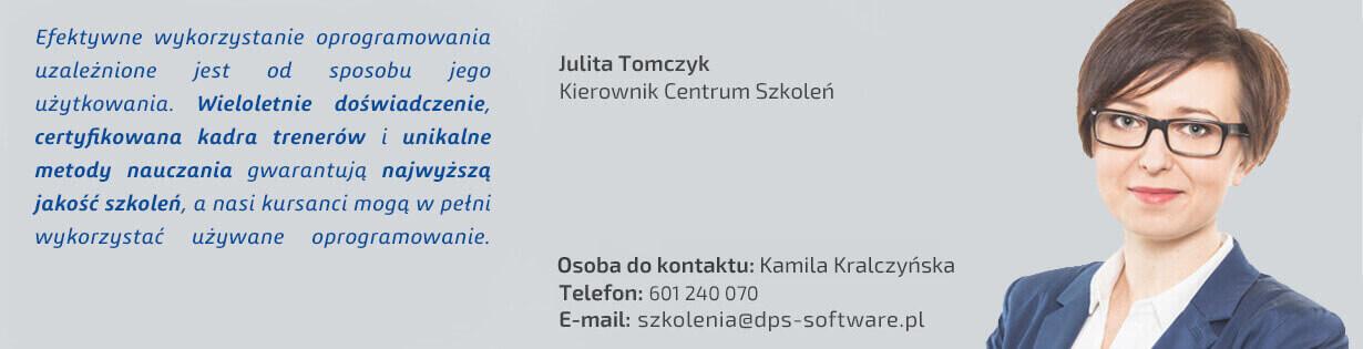 Julita Tomczyk, kierownik centrum szkoleń