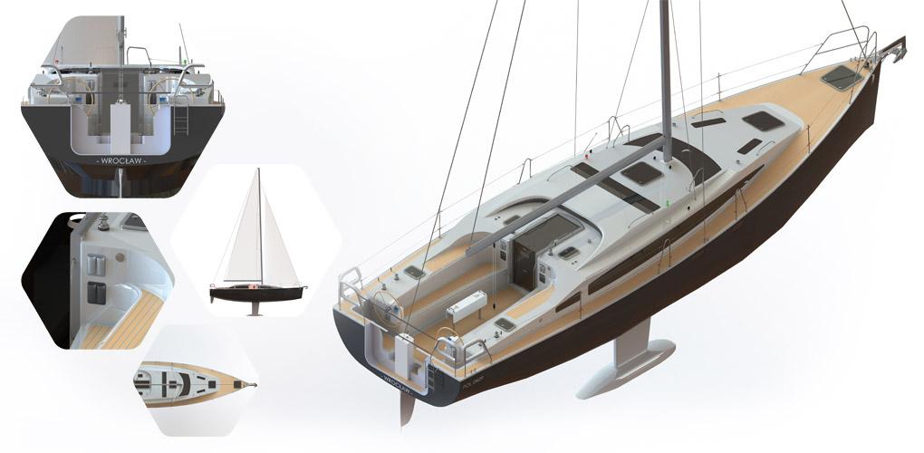 Aleksandra Pajda - projekt jachtu w konkursie studenckim SOLIDWORKS