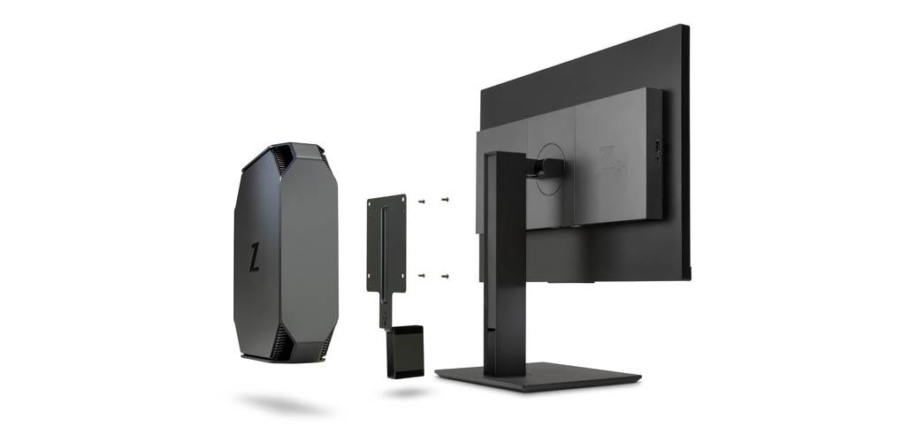 HP Z2 mini G4 z monitorem