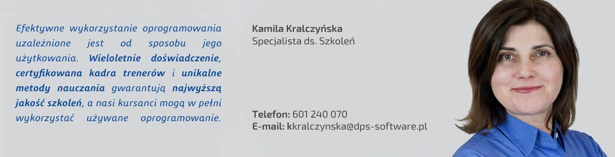 Kamila Kralczyńska, kierownik centrum szkoleń