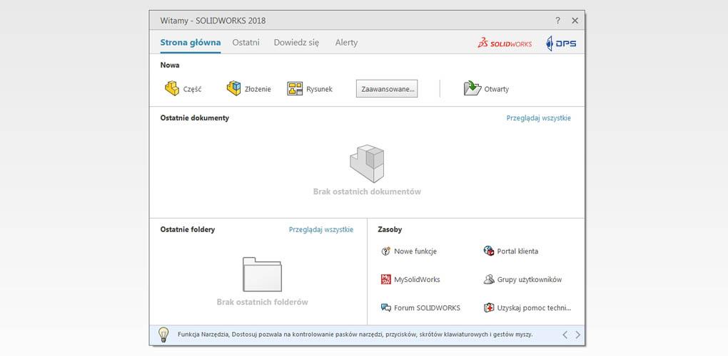 SOLIDWORKS Standard - informacje o licencji
