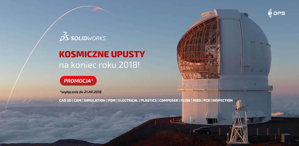 Kosmiczne upusty SOLIDWORKS 2018