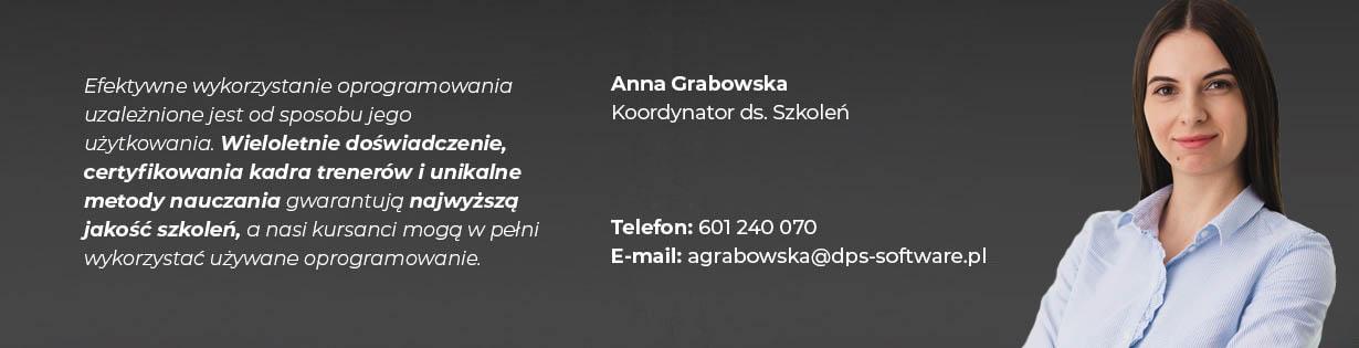 Anna Grabowska, Specjalista ds. szkoleń