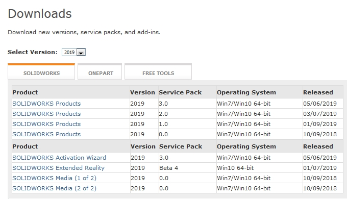 SOLIDWORKS 2019 Service Pack 3.0
