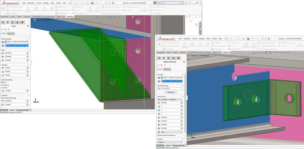 Konstrukcje stalowe w SOLIDWORKS - SolidSteel Parametric