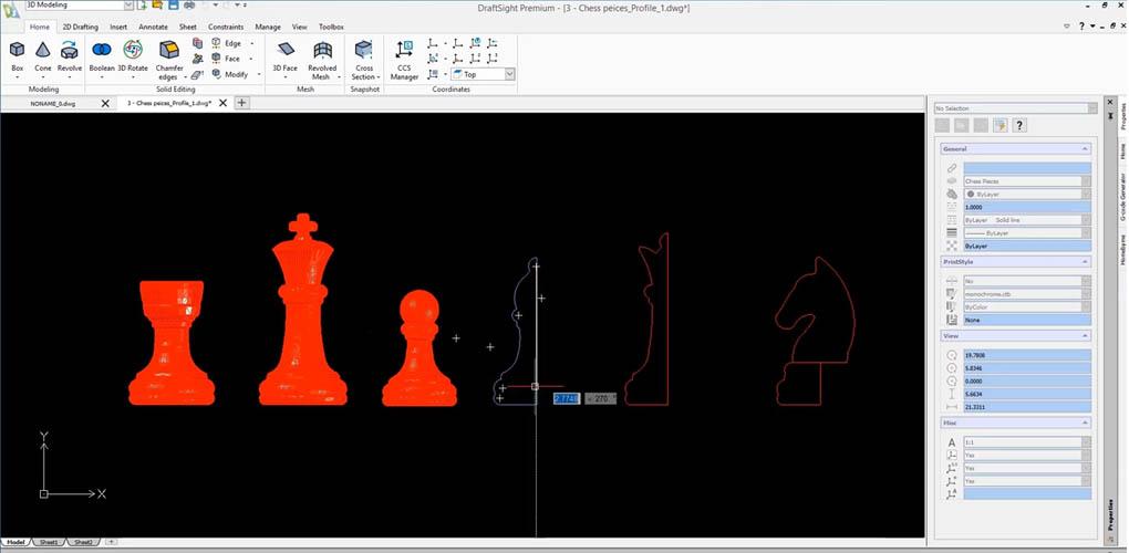 DraftSight 2019 Sp1 - 3D