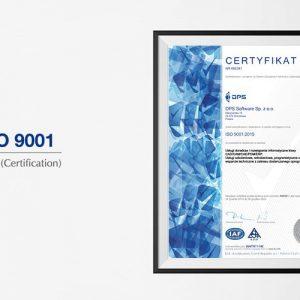Certyfikat ISO 9001:2015 DPS Software