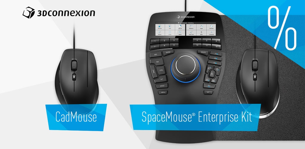Promocja 3DConnexion - Cad Mouse, SpaceMouse, Zestaw Homme Kit - DPS Software