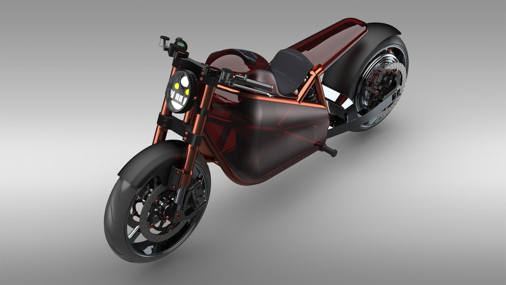 Mateusz Kuprianiuk, Politechnika Białostocka Motocykl elektryczny z silnikiem BLDC umieszczonym w tylnym kole