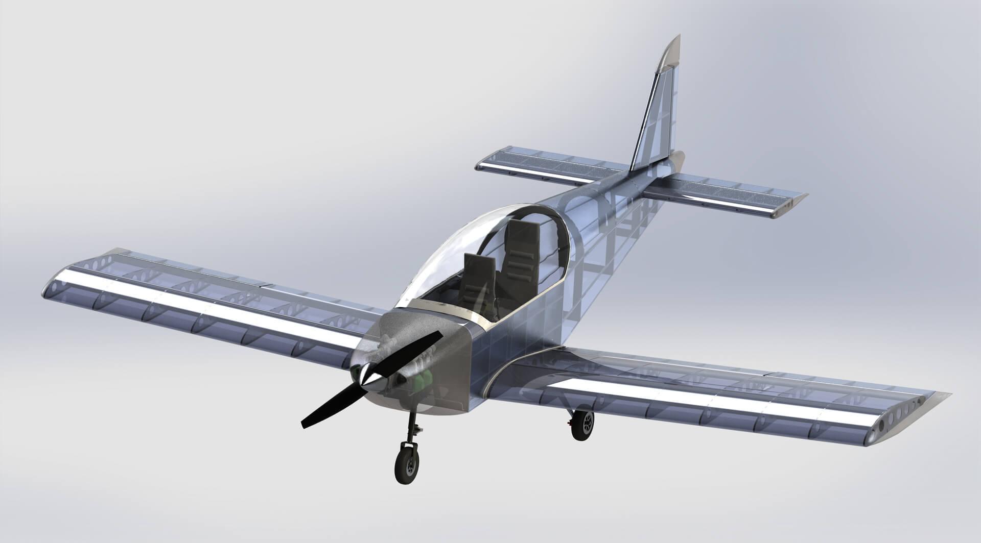 III miejsce – Grzegorz Sajdak, Politechnika Rzeszowska Dwuosobowy samolot turystyczny