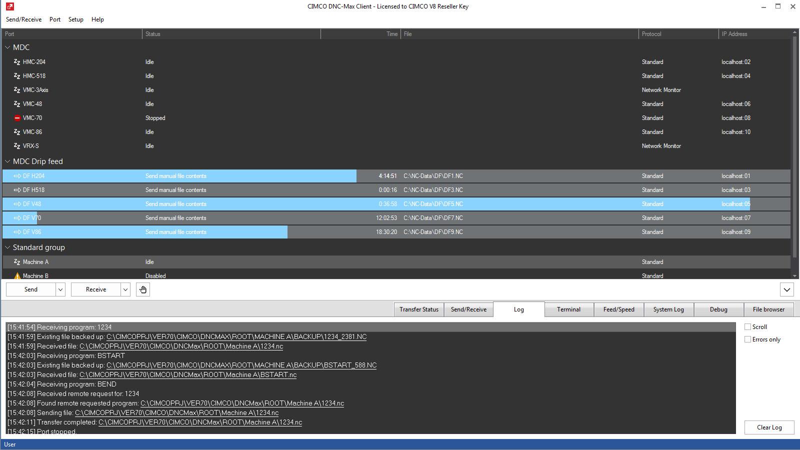 Zrzut ekranu oprogramowanie CIMCO DNC-Max PL