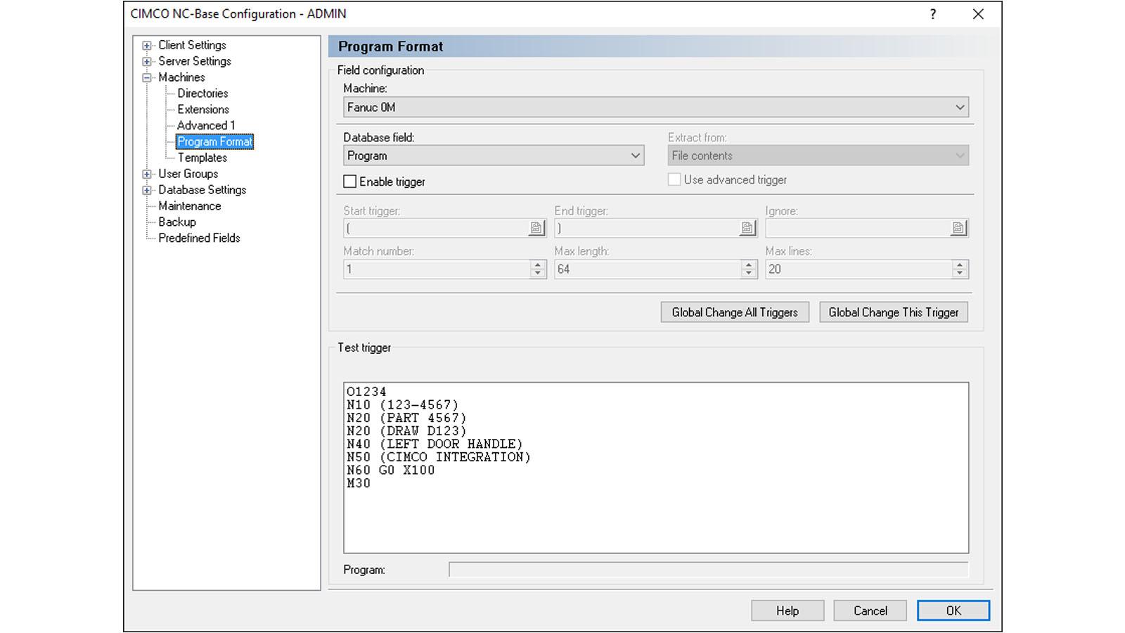 Zrzut ekranu oprogramowanie CIMCO NC-Base PL