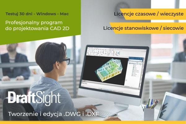 Pobierz DraftSight legalne demo na 30 dni - oprogramowanie CAD 2D/3D Windows Mac